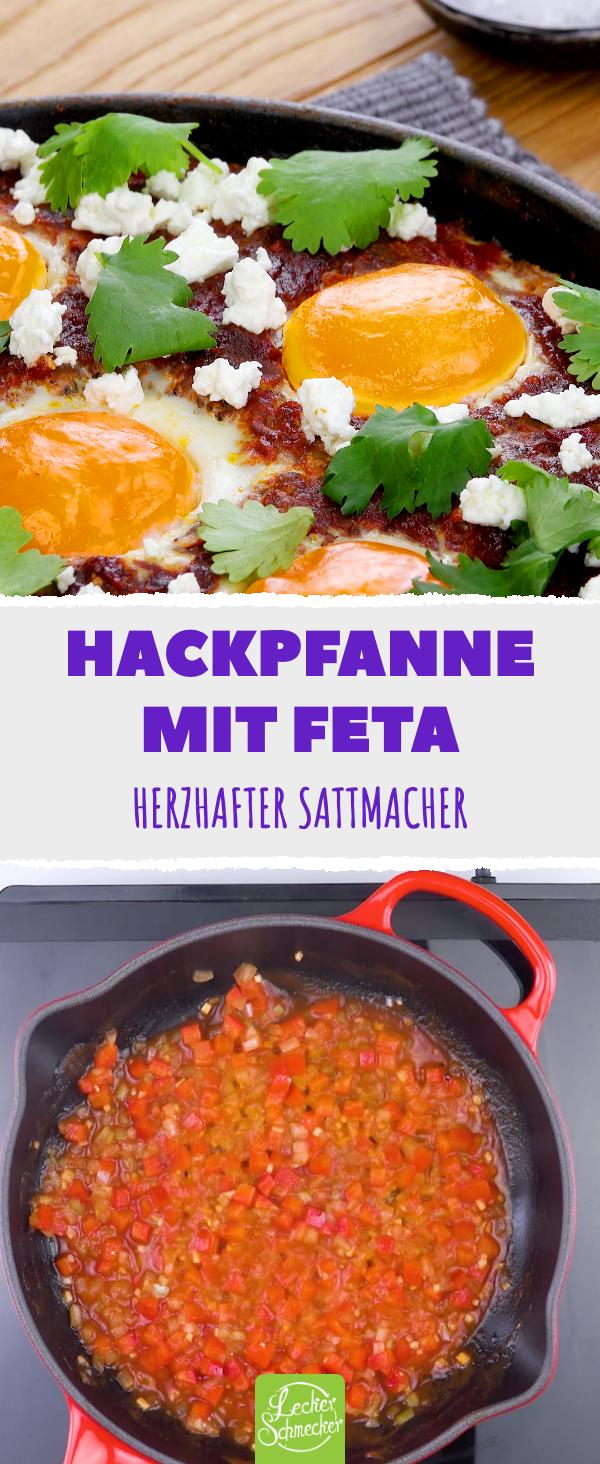 Hackfleischpfanne mit Feta – ein herzhaftes Rezept für das nächste Mittagessen