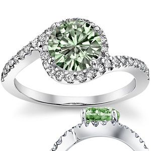 light green engagement ring - Green Wedding Rings