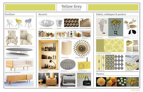 Yellow Grey | Interior design presentation, Board and Mood boards