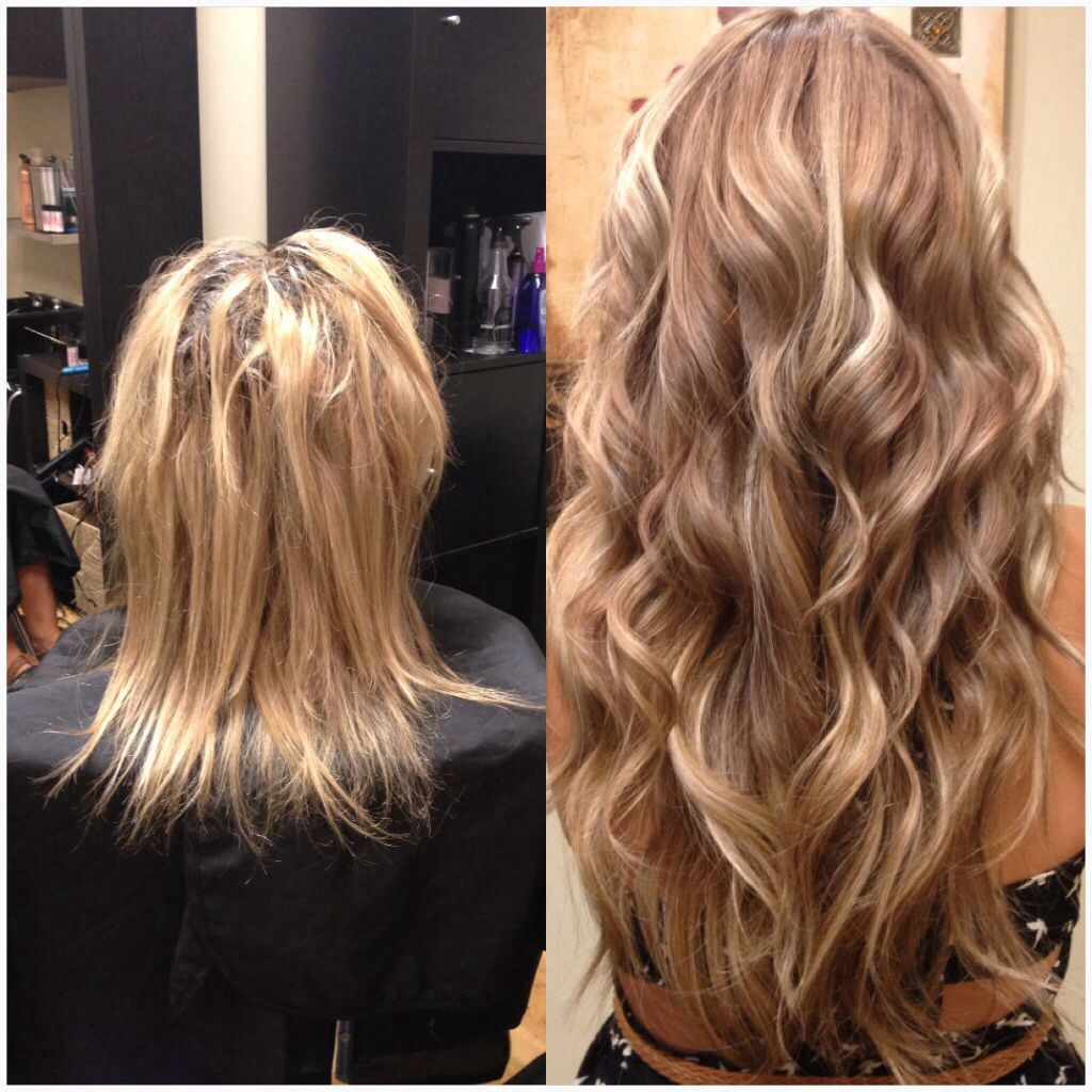 hair extension (before and after) | #extensions in 2019