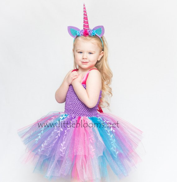 b98e930a7 Our Unicorn Costume is bursting with sparkles, glitter and magic!!  Everything a little girl could hope and dream for: a Unicorn Tutu Dress  complete with a ...