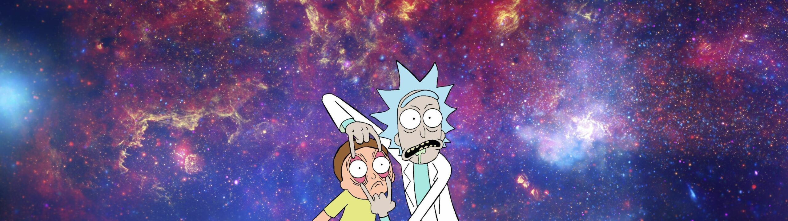 Rick And Morty Dual Monitor Wallpaper In 2020 Dual Monitor