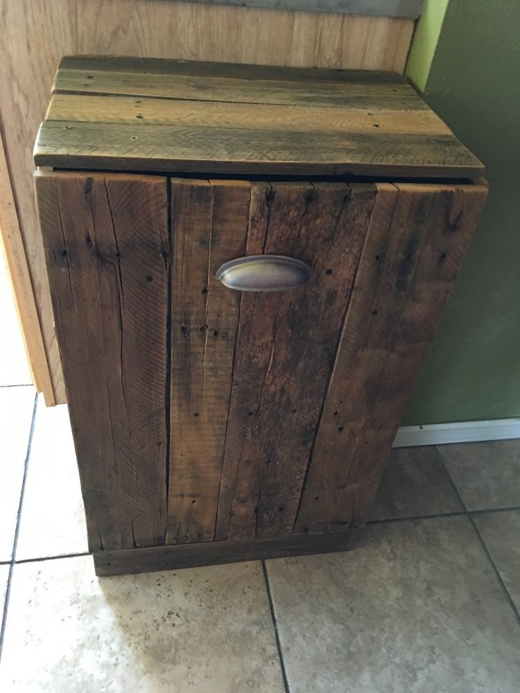 Best 25 Wooden Trash Can Holder Ideas On Pinterest