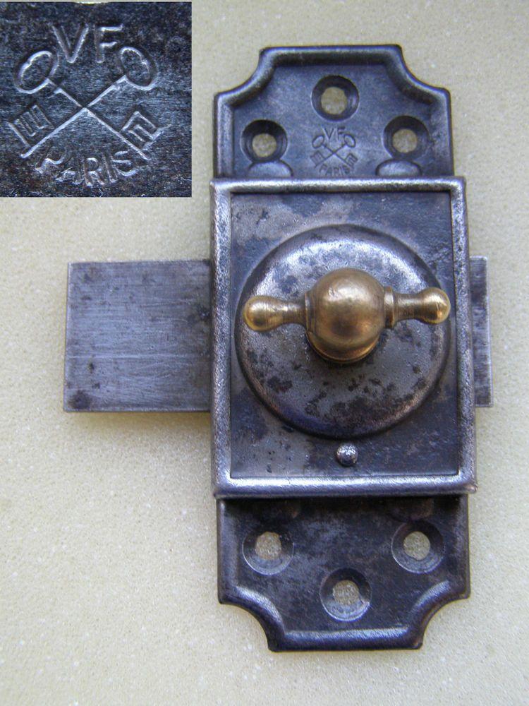 verrou pour porte ancienne serrure loquet targette poign e fer forge cadenas cle poign e bouton. Black Bedroom Furniture Sets. Home Design Ideas