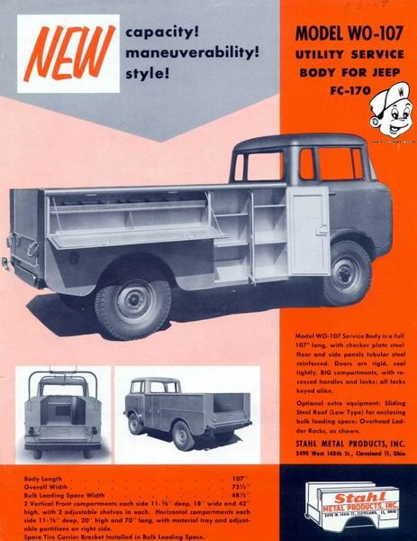 Stahl Utility Beds Utility Bed Jeep Work Truck