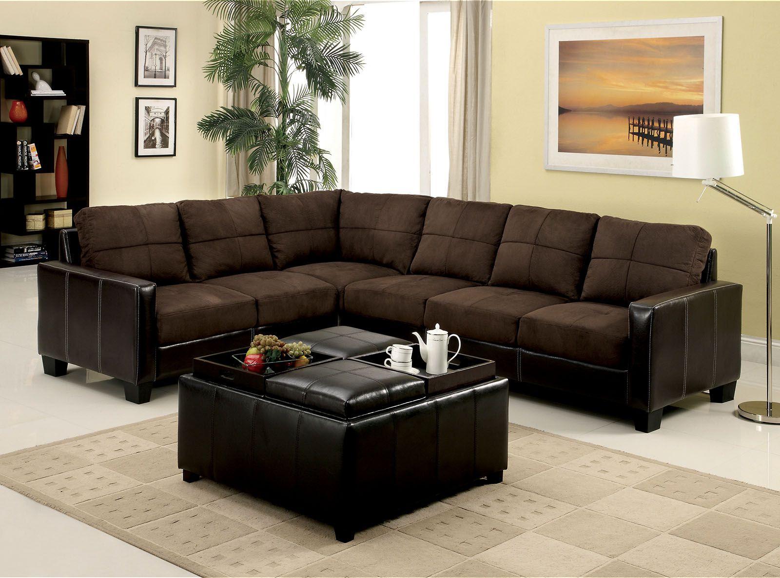 Lavena 6453dk Brown Contemporary Sectional Sofa Corner Sectional Sofa Sectional Sofa Brown Sectional Sofa