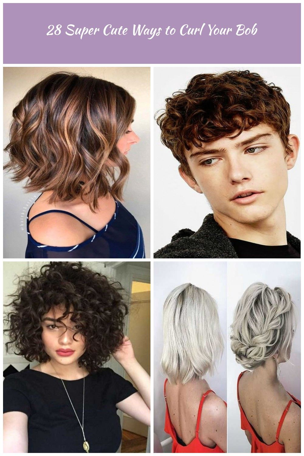 12 Super Cute Ways to Curl Your Bob hair style curly 12 Super Cute