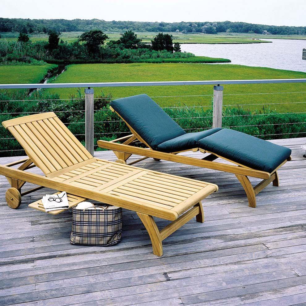 Kingsley Bate Classic Chaise Lounge Pool Chaise Lounge Outdoor Chaise Lounge Teak Chaise Lounge