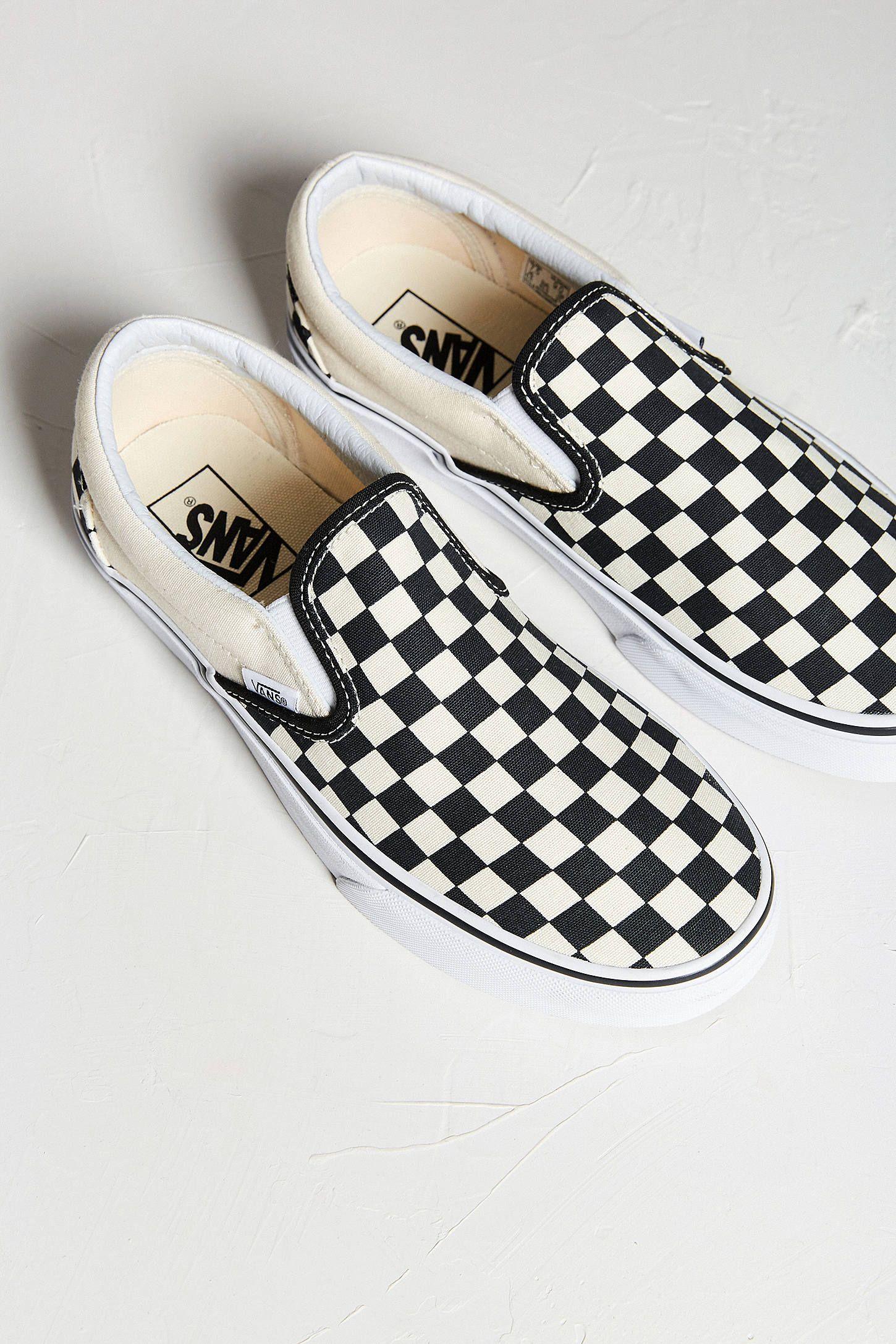 vans slip on checkerboard cheap