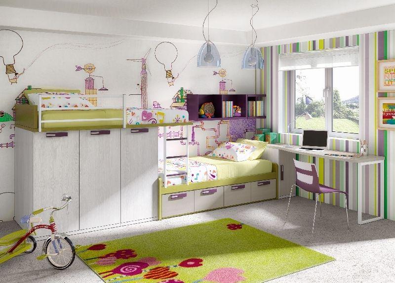 Litera tren 2 c modas camas y un mont n de espacio para guardar todas sus cosas - Habitaciones infantiles barcelona ...