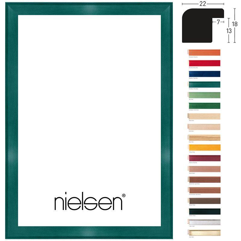 Nielsen Holzrahmen Aquarelle 22 50x60 Dunkelgr�n