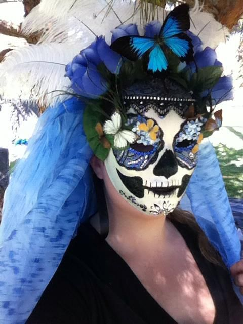 """Model wearing """"Catherine"""" at the Dia de Los Muertos festival Hollywood Forever Cemetery 2012."""