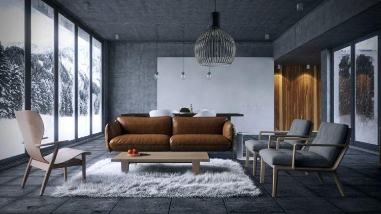 Farbkombination Grau Braun Weiß im Wohnzimmer \u2013 stilvolle - Wohnzimmer In Weis Und Braun