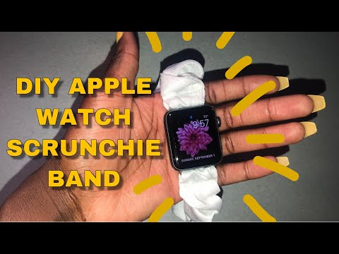 7 Diy How To Make An Apple Watch Scrunchie Band Youtube Diy
