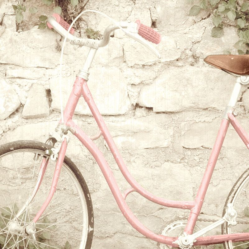 Another Etsy Artist Pink Bicycle Pink Bike Vintage Photography