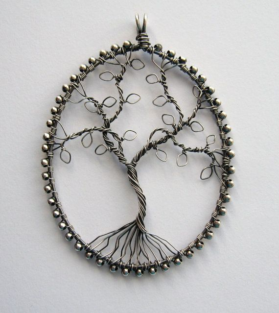 Silver Tree pendant antique finish | Pendants | Pinterest | Tree ...