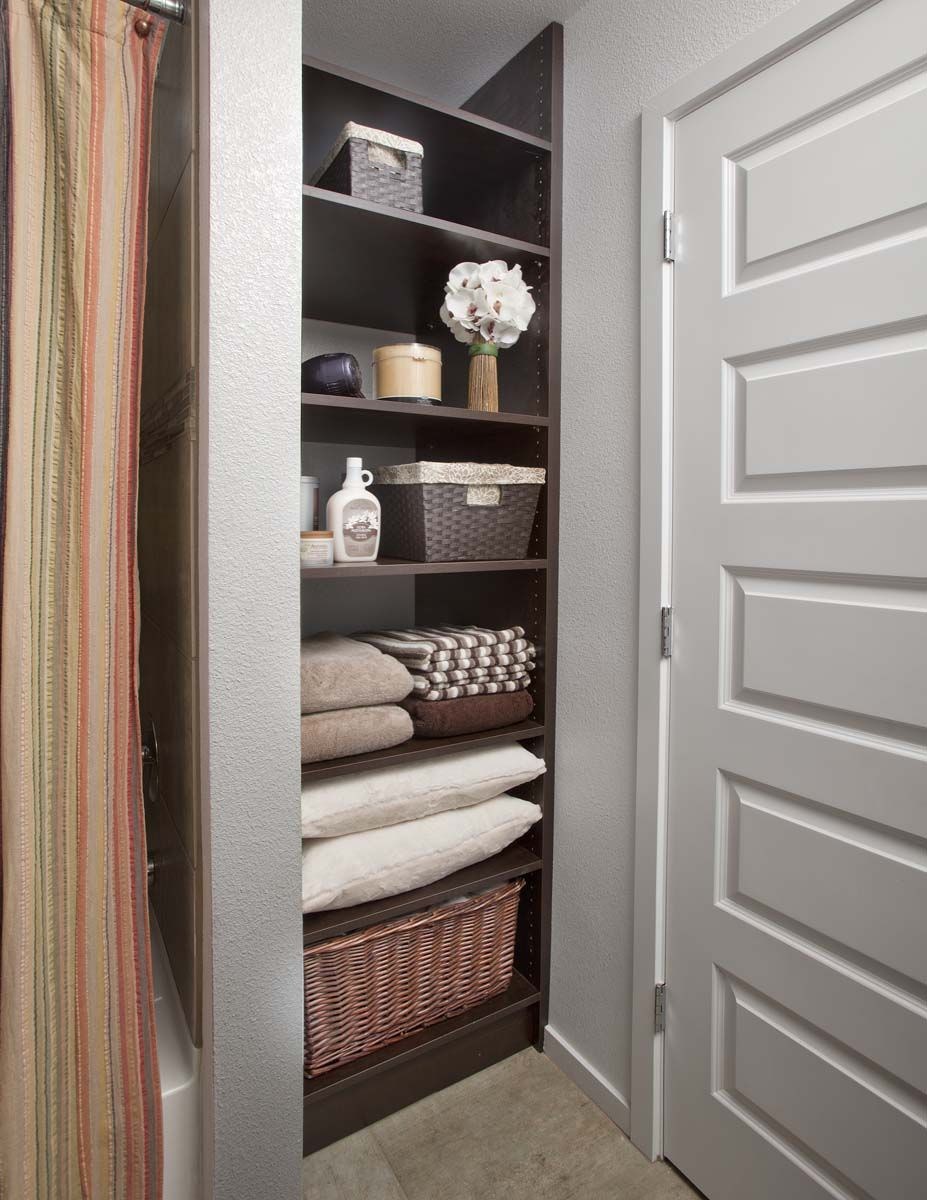 Bathroom closet organization special spaces organizers Small closet shelving ideas