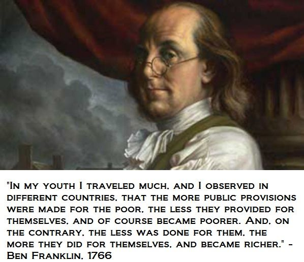 Ben Franklin S Observations About Poverty And Welfare Quotes By