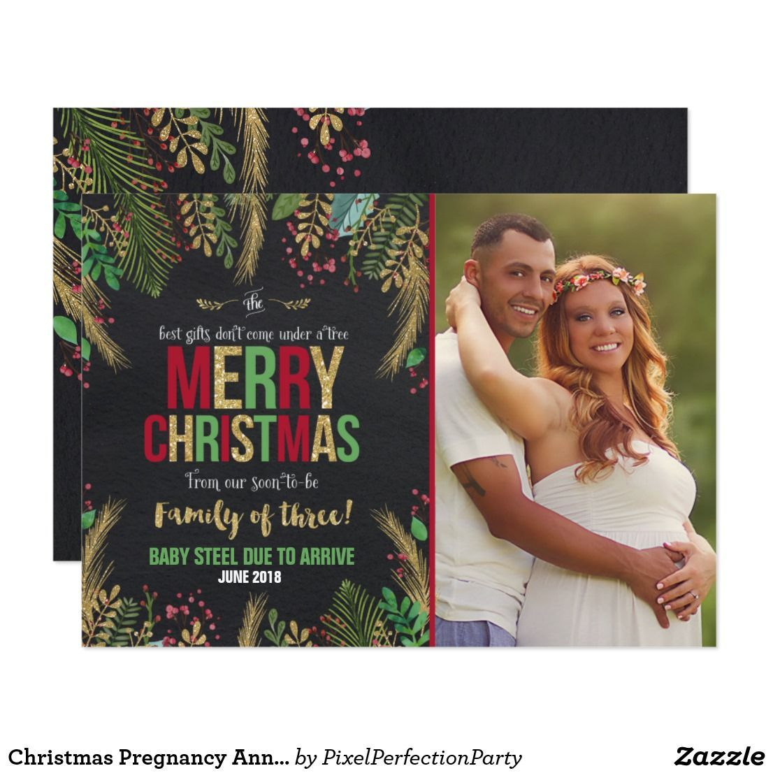 Christmas Pregnancy Announcement Christmas Card Pregnancy