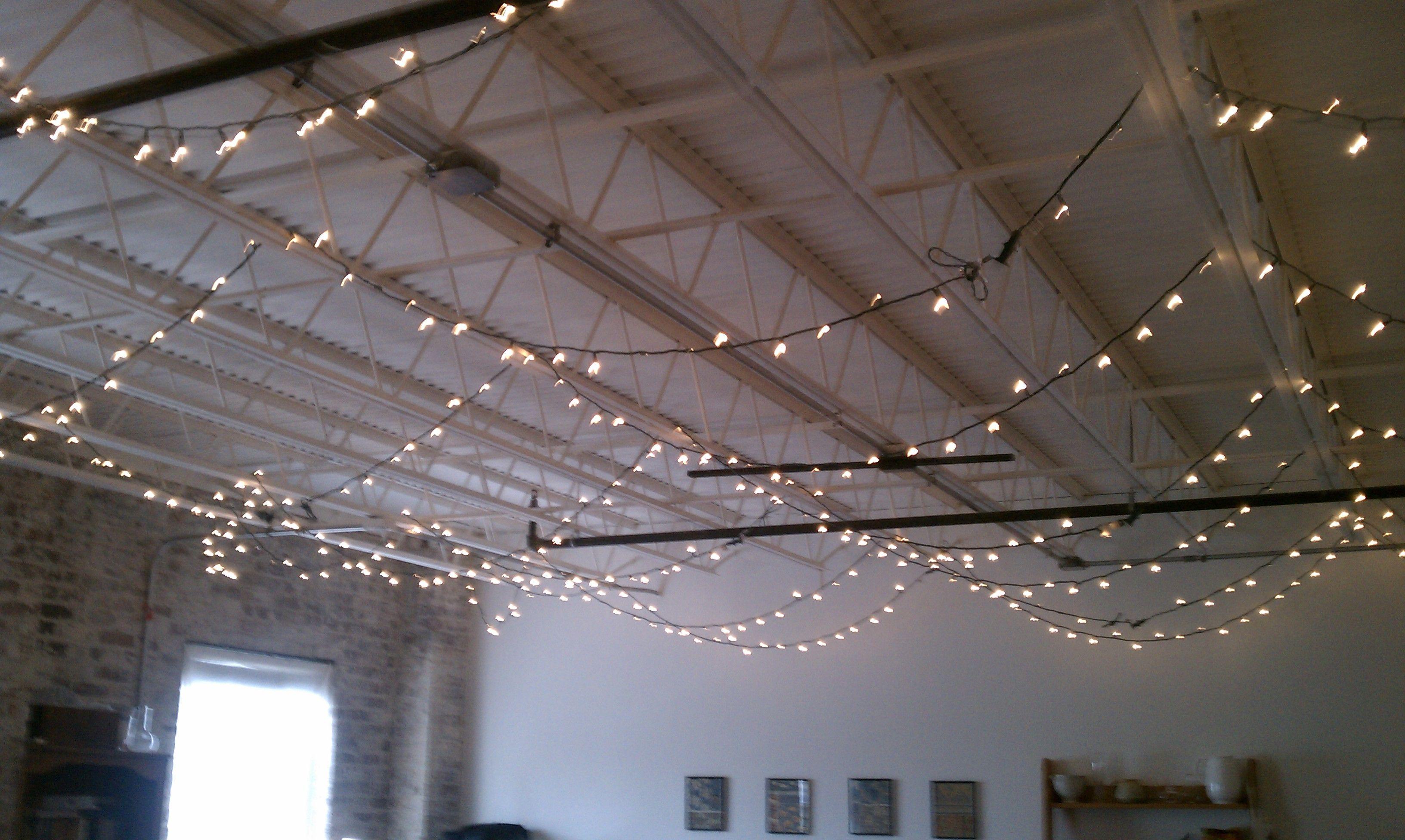 Using Christmas Lights Year Round Basement Much Better Than