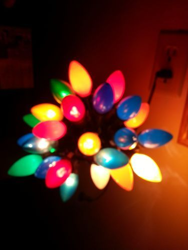 Lot of 4 vintage electric strands christmas lights ~vintage bulbs~1