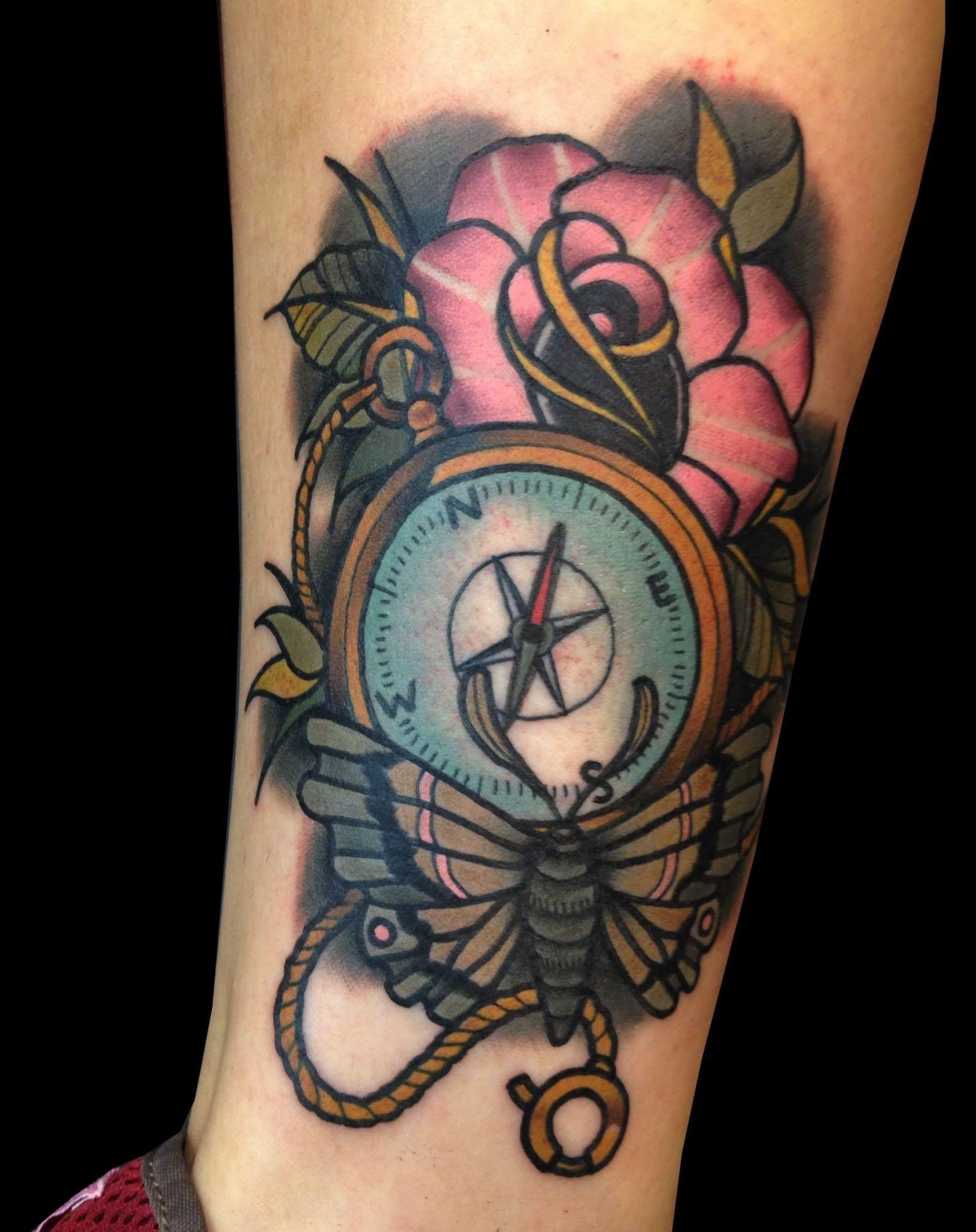 Compass Rose Tattoo