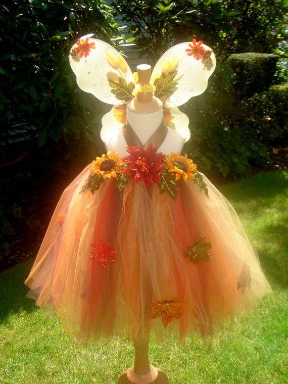 1175e0b6f286a Handmade Boutique AUTUMN FAIRY Tutu Dress and Wings Halloween ...