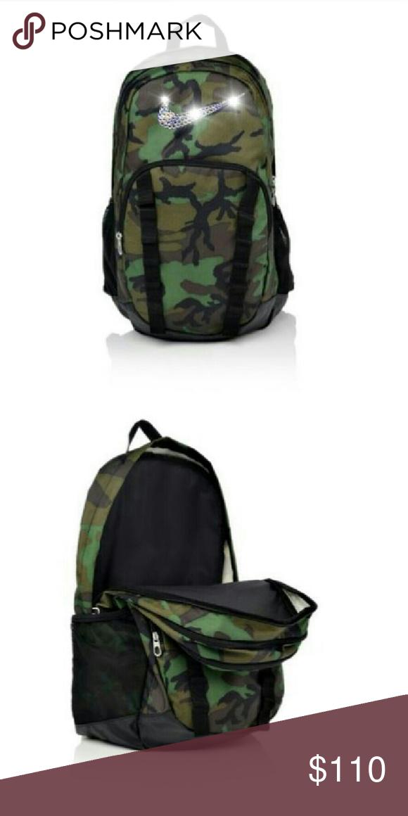 Swarovski Nike Brasilia backpack 7 xl Brand new custom camo Nike backpack  Brasilia 7 xl Nike Bags Backpacks 29eabee399