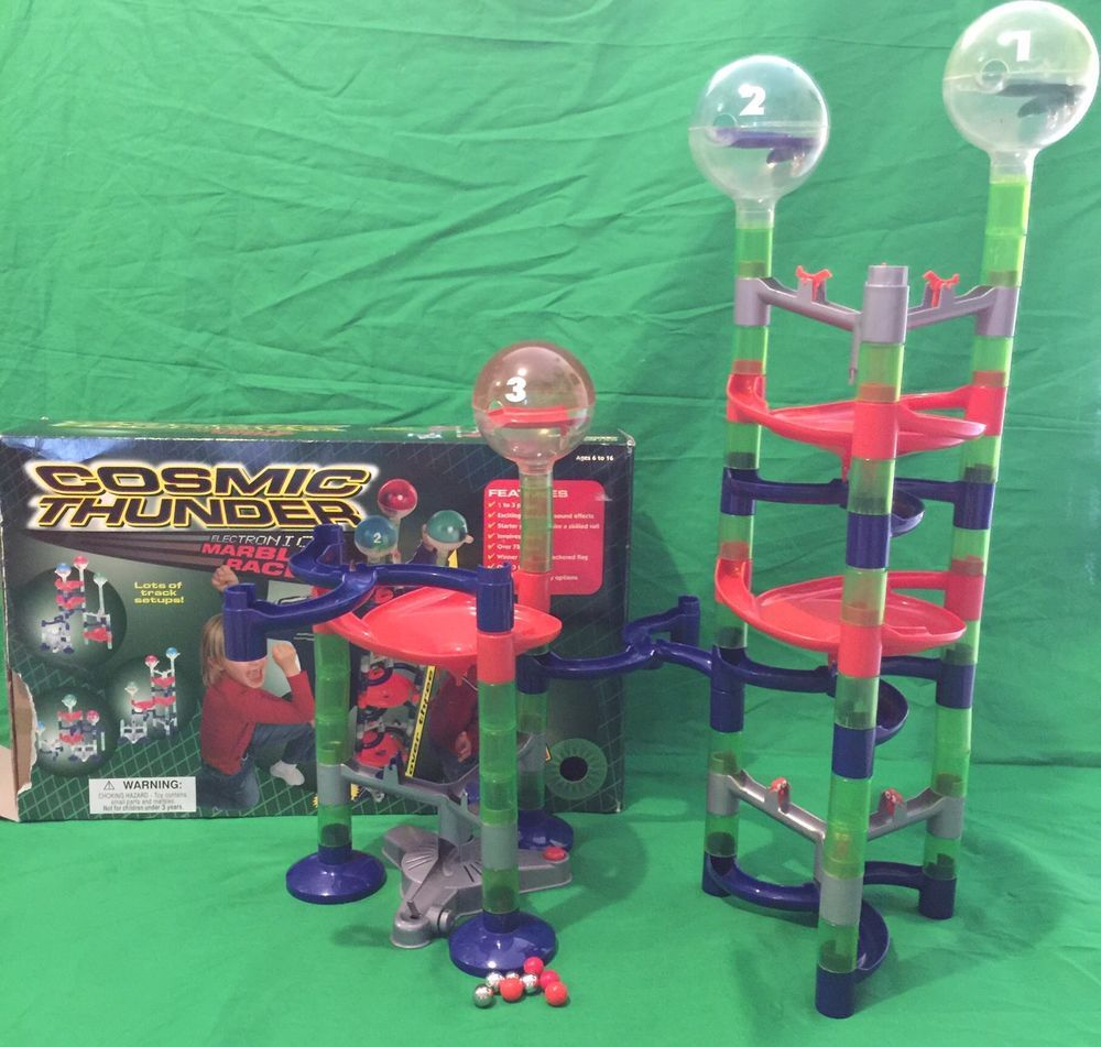 Summit Cosmic Thunder Electronic Marble Race Track Game