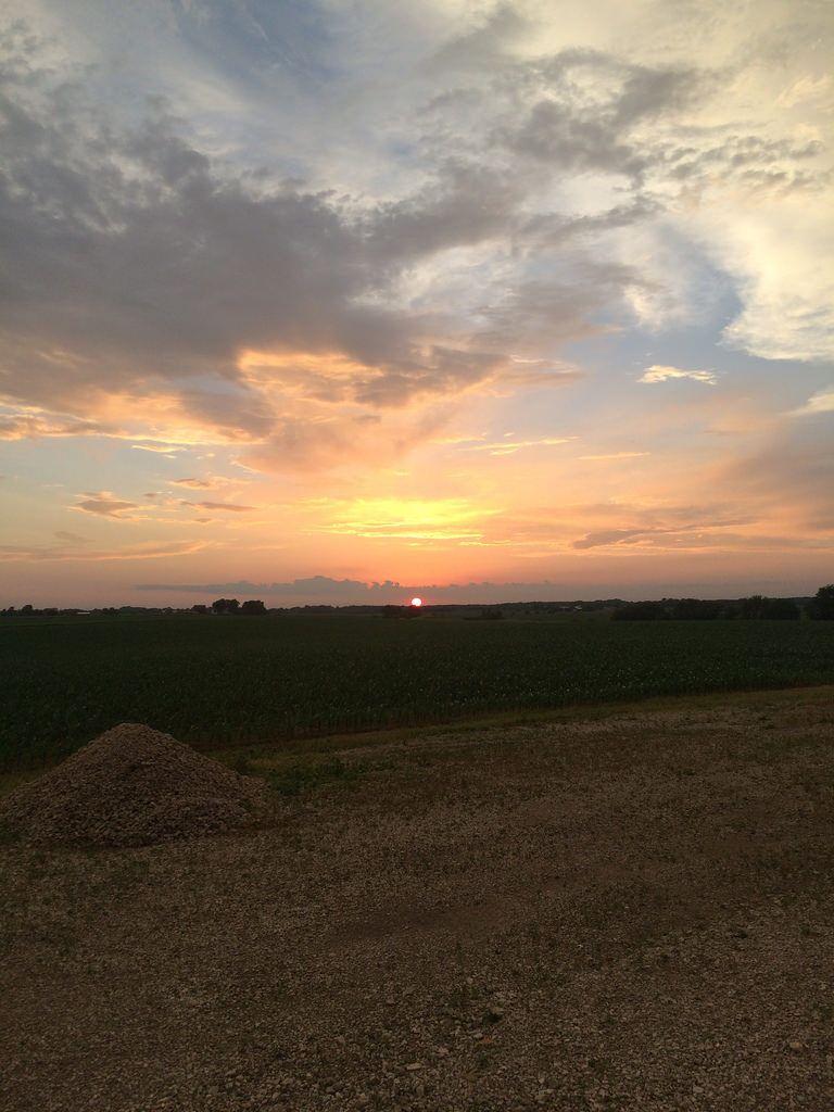Sunset south of Yorkville, Illinois.