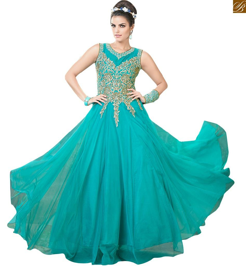 Image of Long gown dresses online suitable to wear in parties for ...