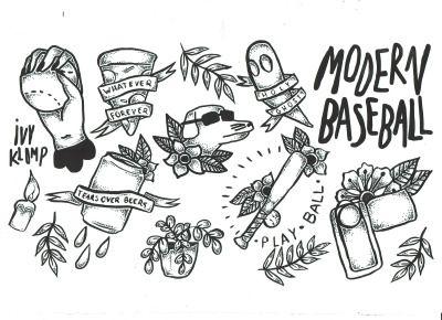 Full Flash Series Right Now Modernbaseballbandpa Mooseblood Asitisofficial Thefrontbottoms Pwrbttmband Fran Punk Tattoo Tattoo Flash Sheet Emo Tattoos