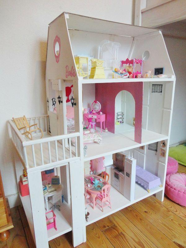 Maison de barbie sc cr ations miniaturas barbie haus zimmer f r kleine m dchen y barbie - Plan de maison de barbie ...