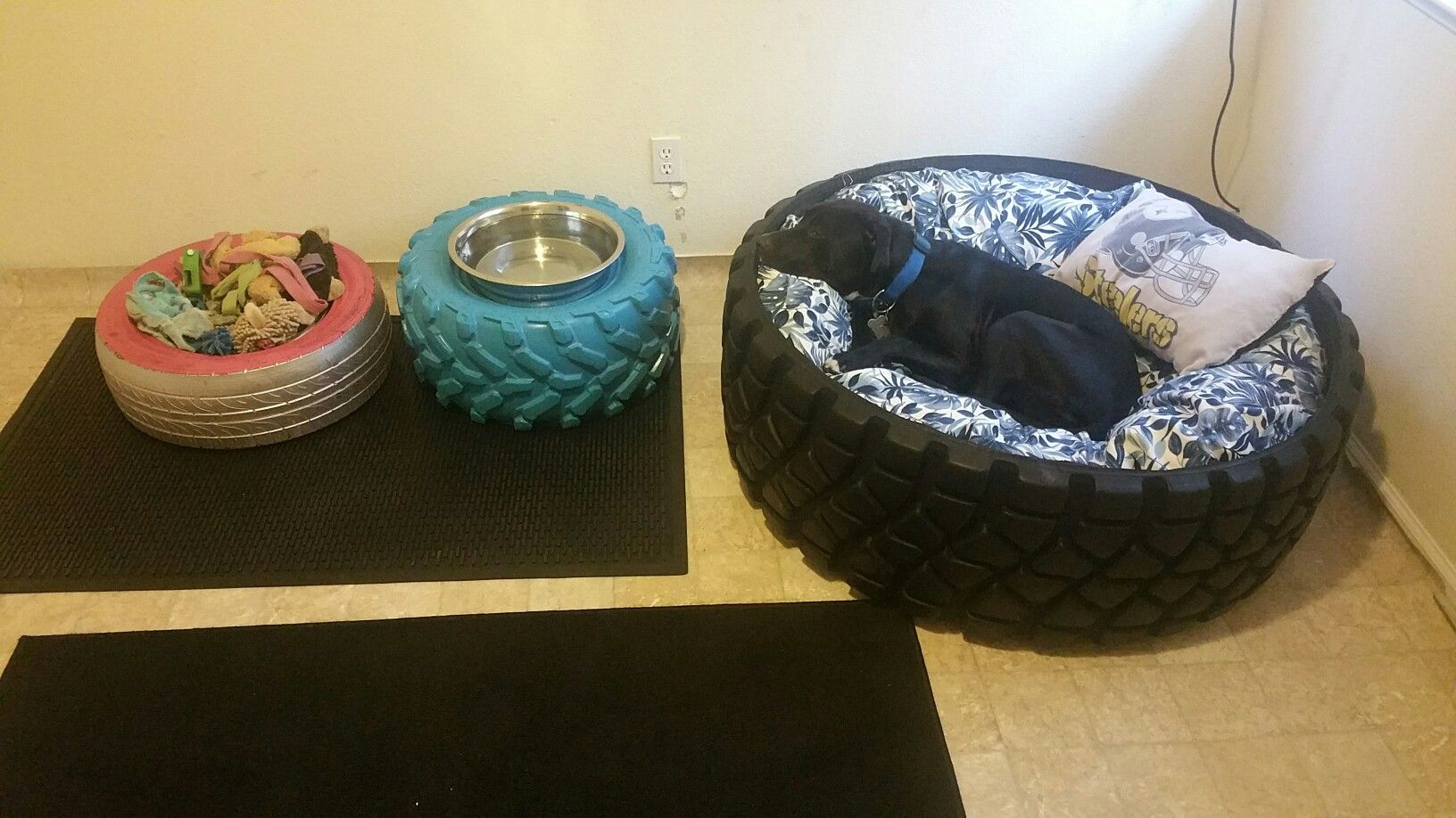 Recycled Tires For Dog Bed Spill Proof