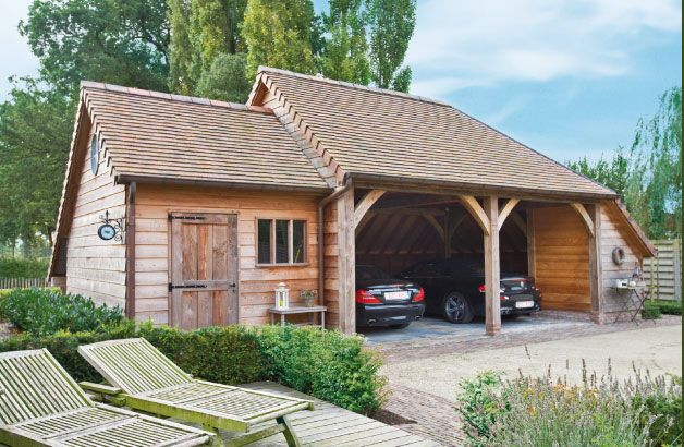 Cottage carport carports pinterest gardens cottages for Garage cottage