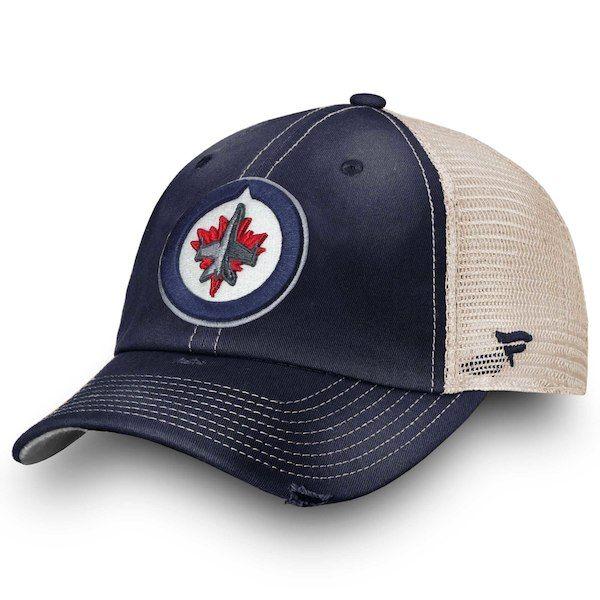 Men s Winnipeg Jets Fanatics Branded Navy True Classic Washed Trucker Adjustable  Hat d92bba506