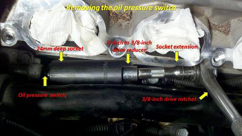 Oil Pressure Switch Replacement  2010 Santa Fe 35L  Hyundai