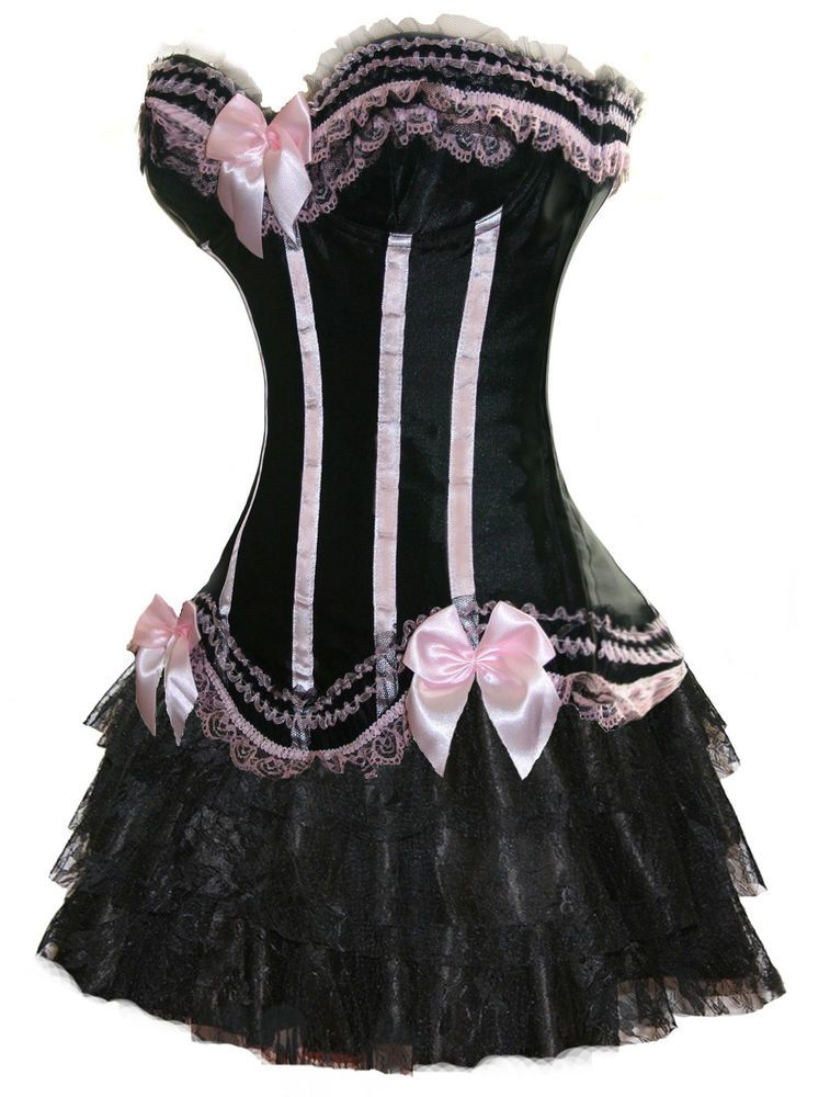 164e737b0 Details about Yummy Bee Burlesque Corset Tutu Fancy Dress Costume ...