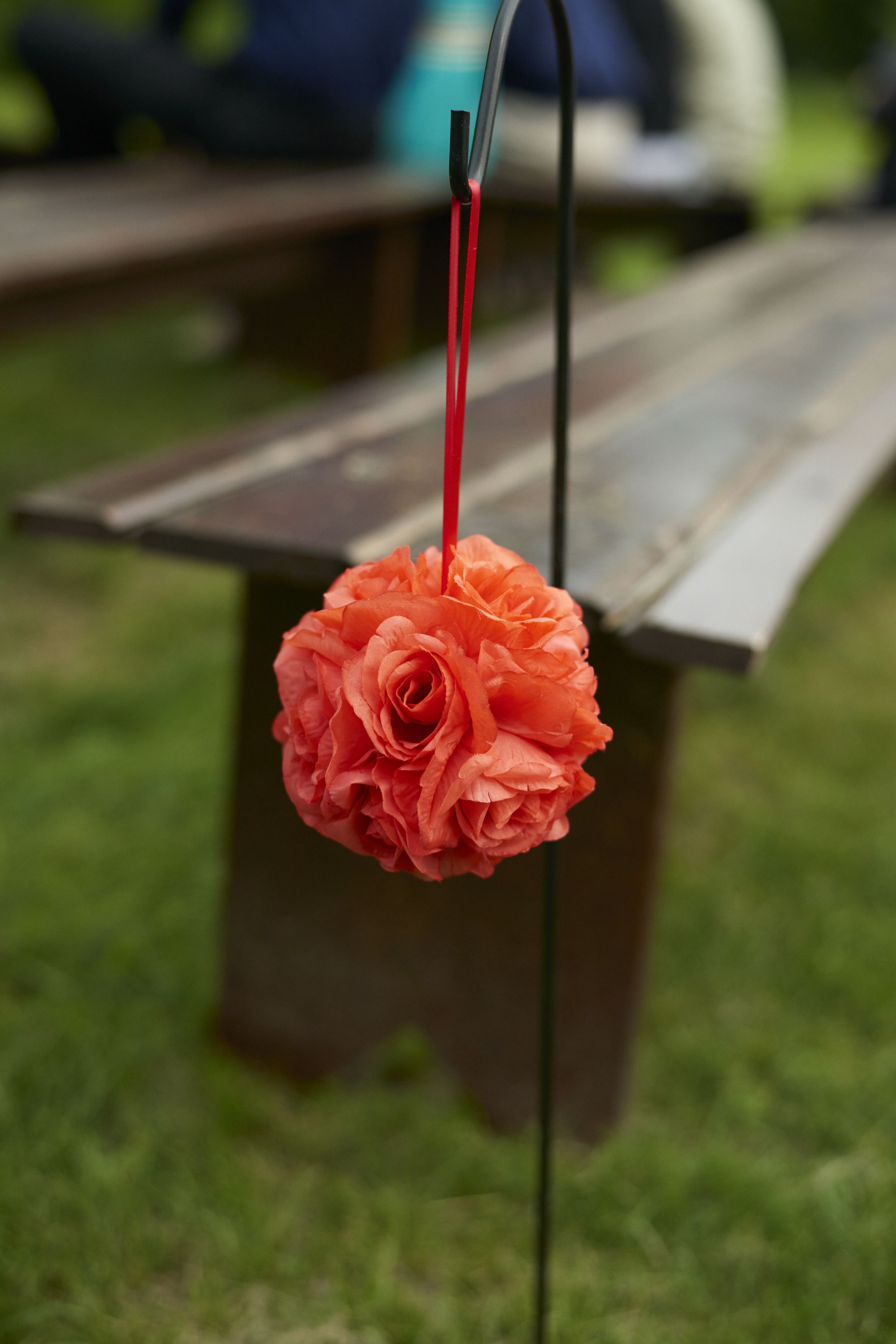 Garden wedding aisle decor  Coral Rose Pomander Aisle Decor  Wedding Ideas  Pinterest  Weddings