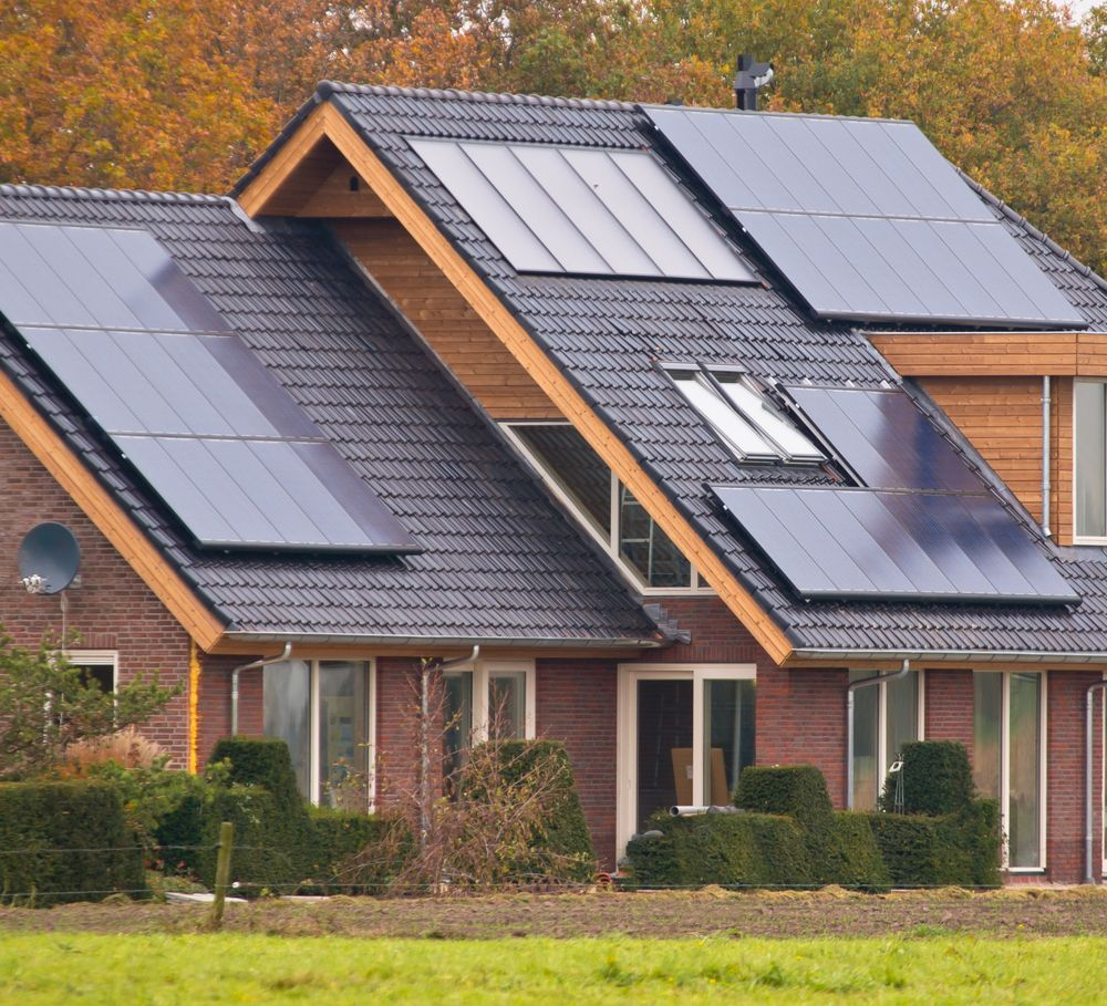 Beautiful modern property complete with #SolarPanels ...
