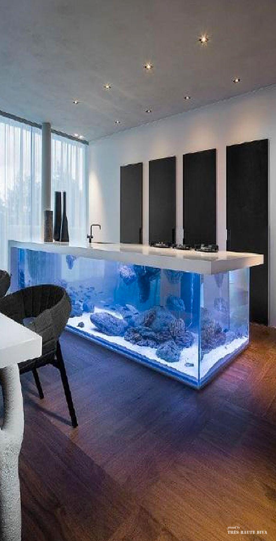 Modern Kitchen Design, Home Aquarium, Kitchen
