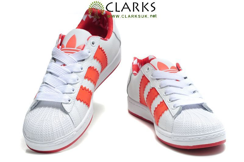Adidas Originals Ultrastar XL Shoes White Orange-Red
