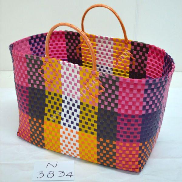 Plastic Woven Storage Basket / Sac A Main Vietnam / HAPRO Shopping Bag (N
