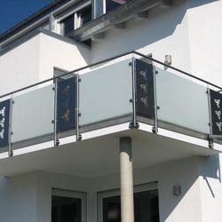 Gelander Mit Glas Und Blech Haus Und Hof Pinterest