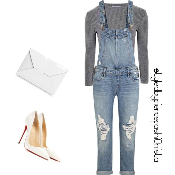 Casual by fiercefashi0nista on Polyvore featuring polyvore, fashion, style, Glamorous, Paige Denim, Christian Louboutin and J.W. Anderson