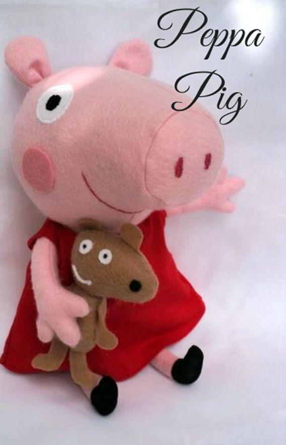 Moldes da Peppa Pig para Artesanato em Feltro