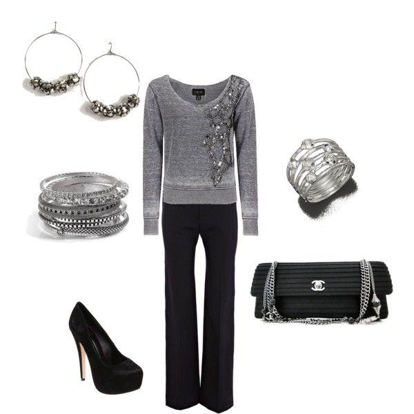 Gray Sparkle (Miss Me Sequin Applique Sweatshirt $62)