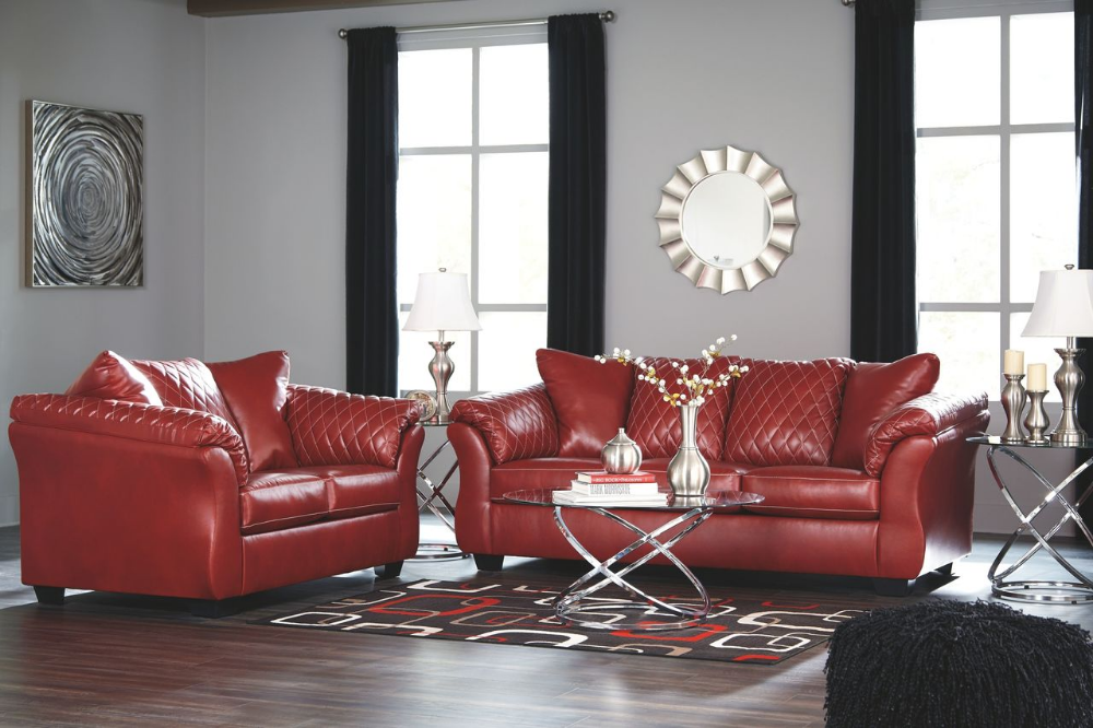 Best Ashley Betrillo Salsa Sofa Couch Loveseat Hollynyx Table Set On Sale At Bargains And Buyouts 400 x 300