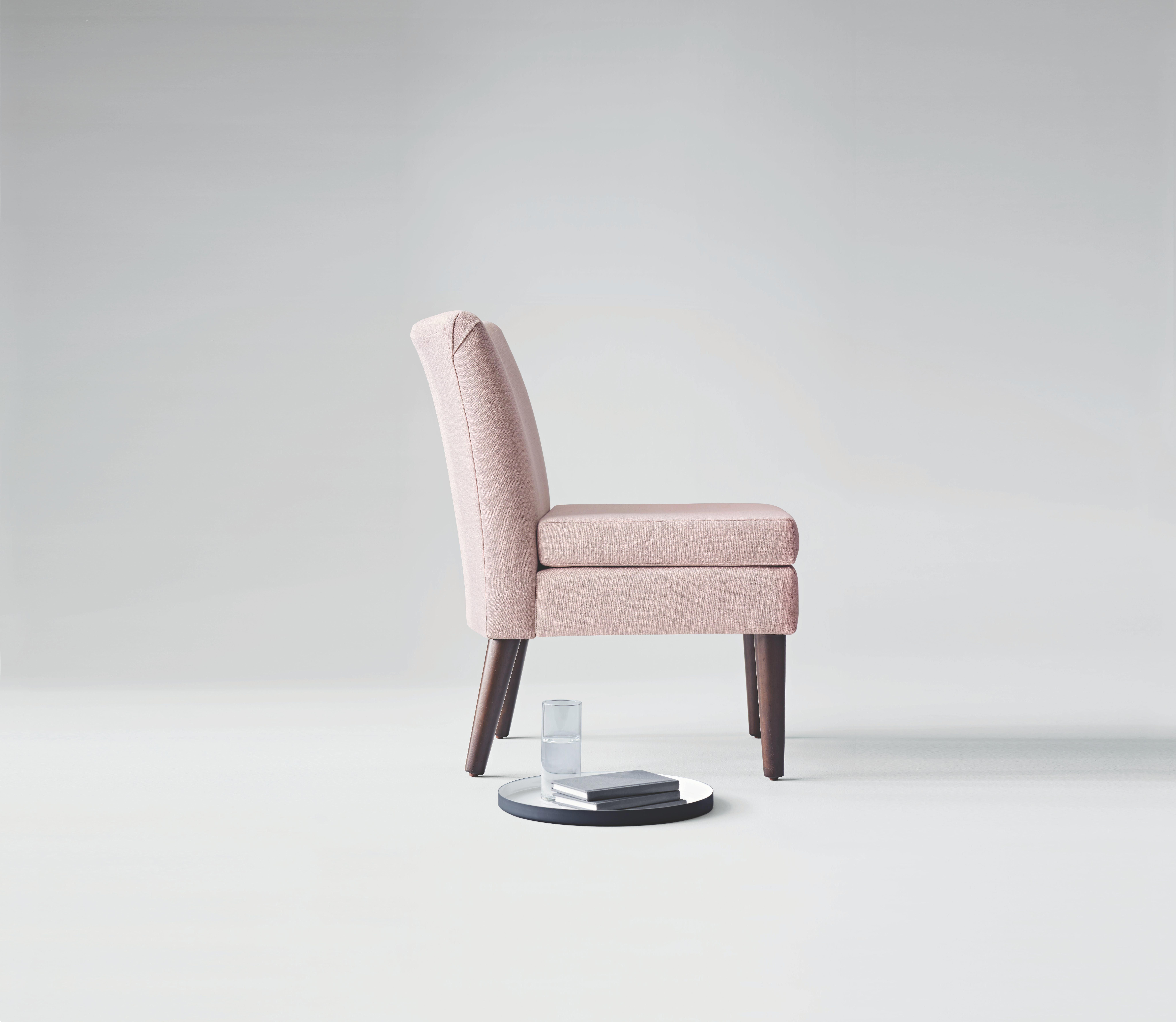 modern slipper chair cool rocking chairs for nursery winnekta in blush upholstery this slim armless is graceful and subtle enough to easily slip anywhere armlesschair