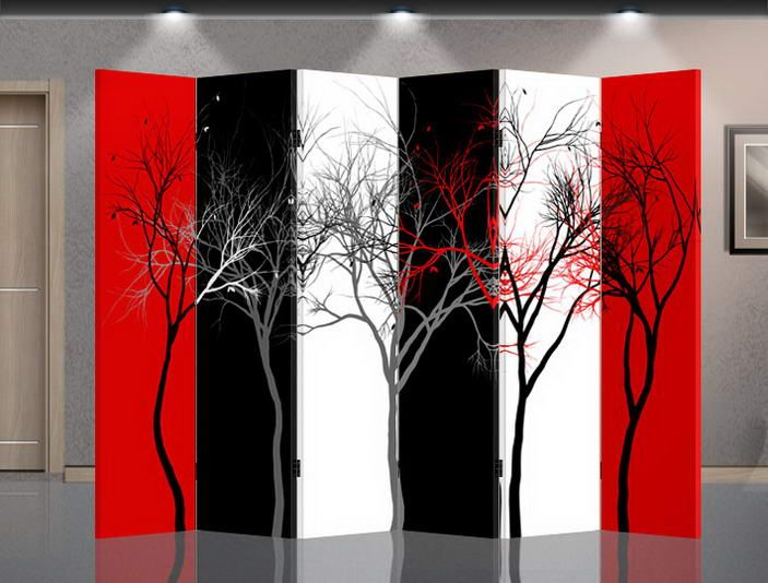 Double Sided Canvas Room Divider